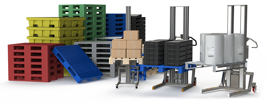 Electric pallet lifter equipment for lifting and handling any kind of pallets.